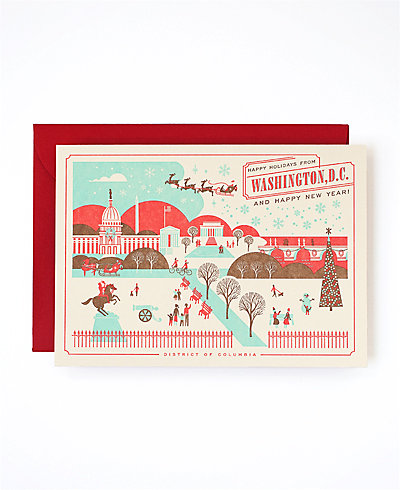 national mall dc holiday card
