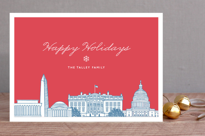 minted white house christmas card design