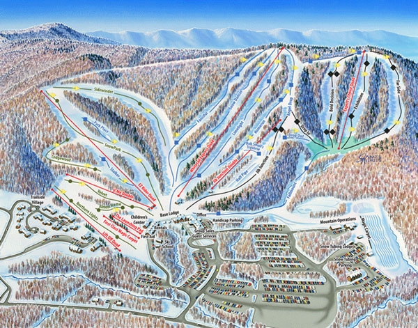whitetail ski resort map