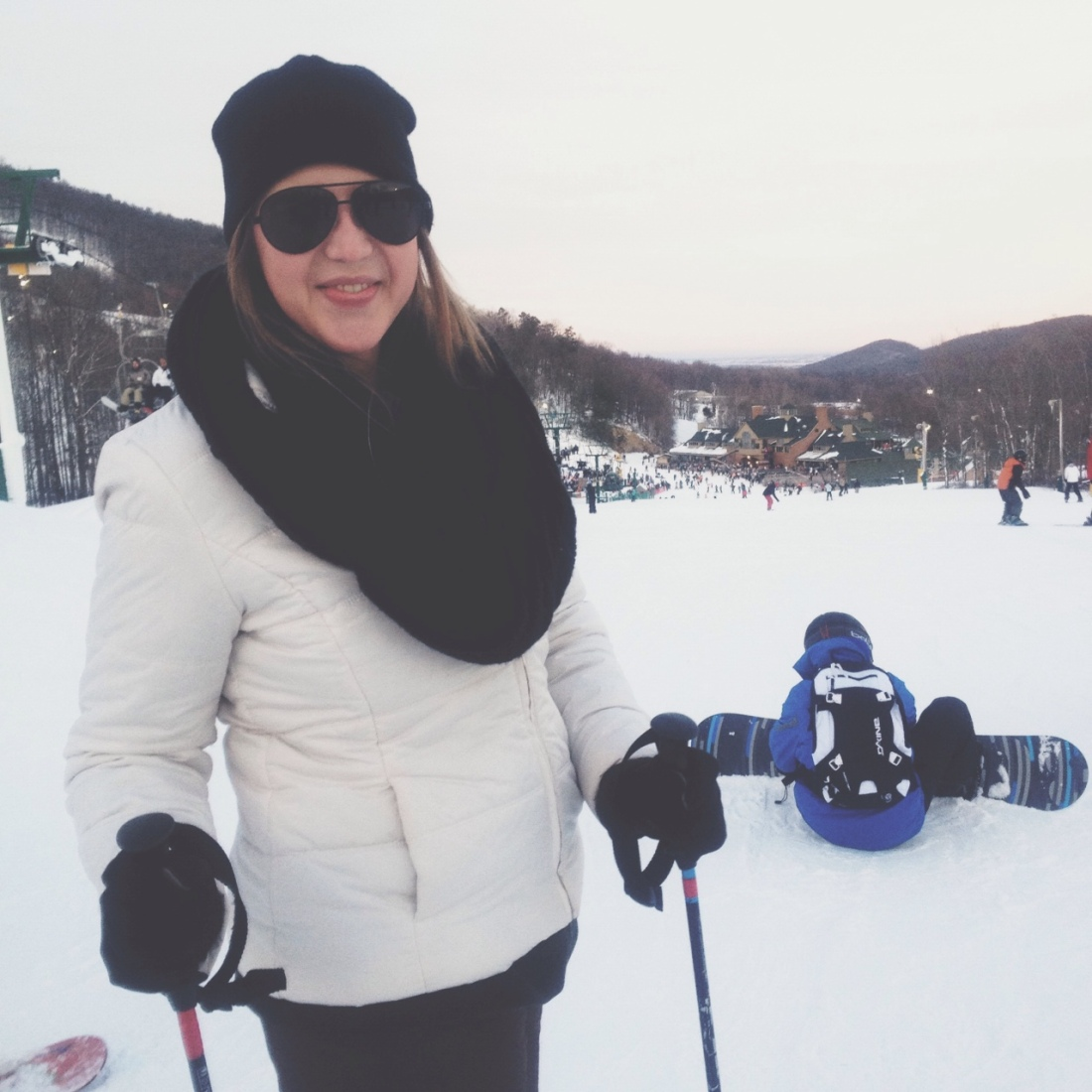sister skiing trip
