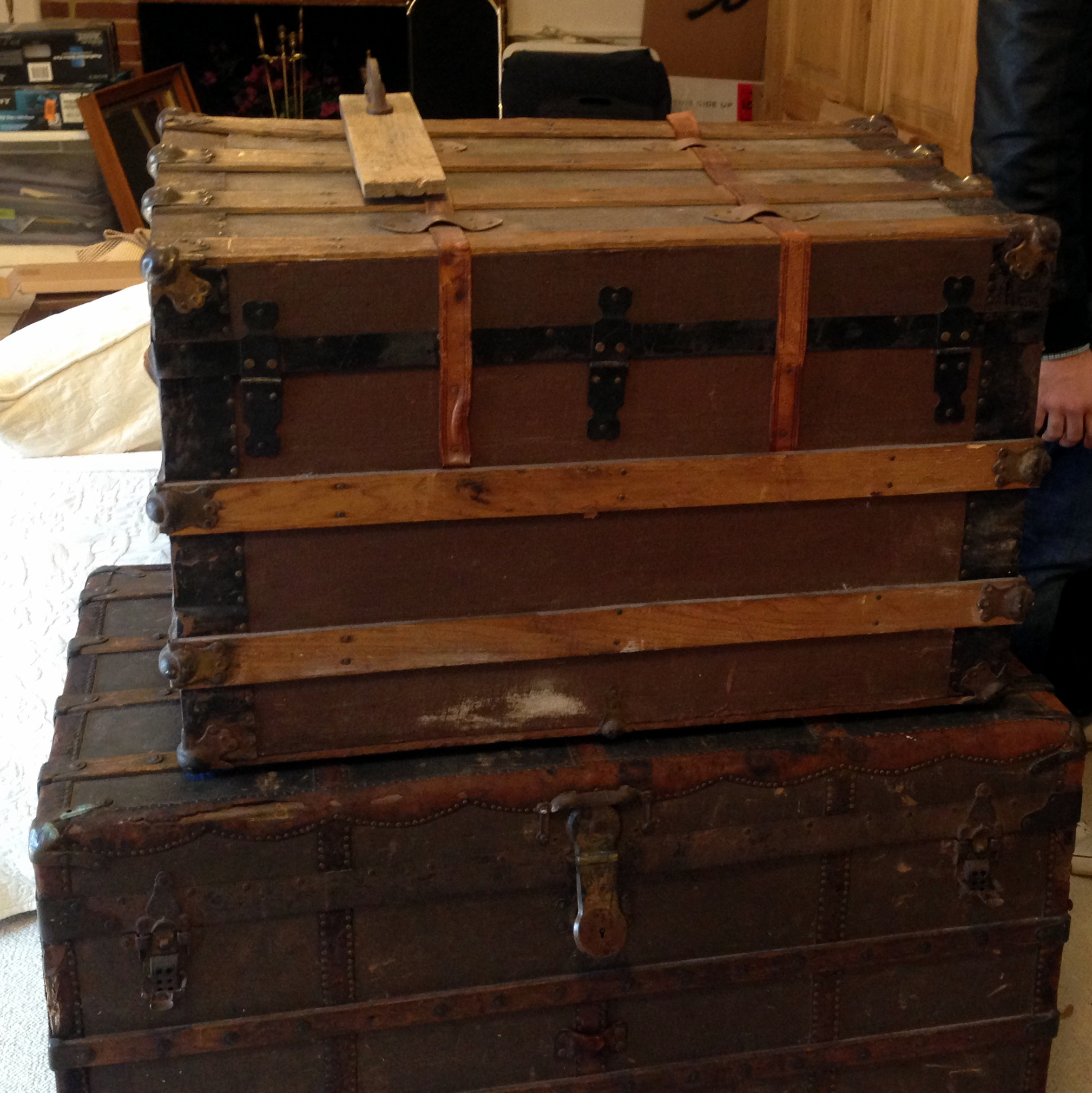 Washington dc antique steamer trunk
