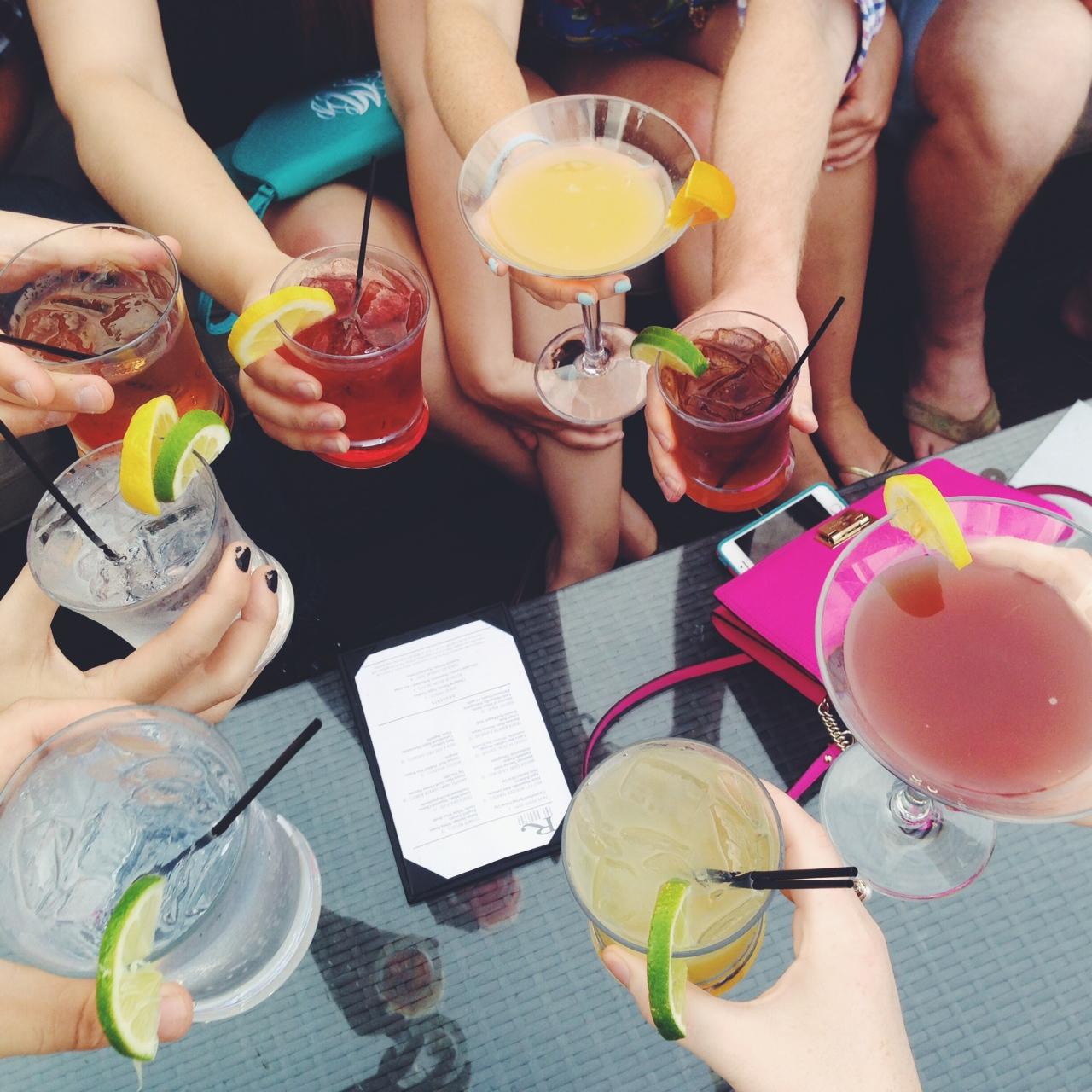 rooftop happy hour drinks charleston