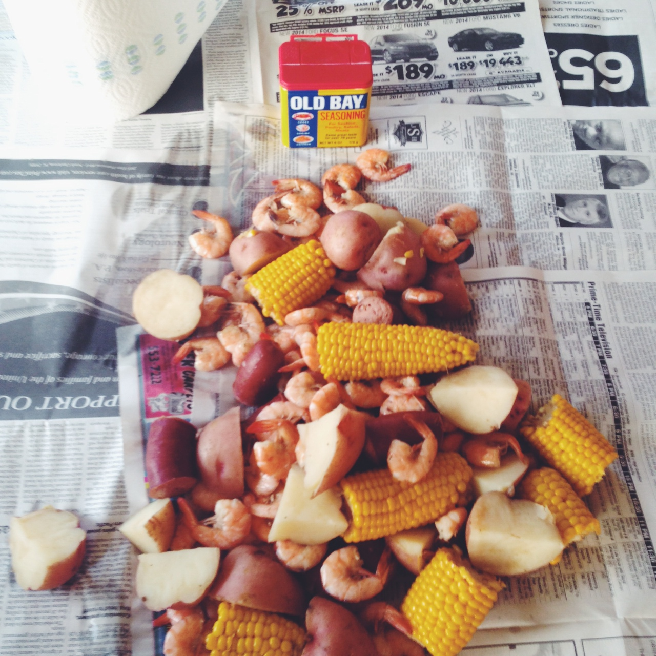low country boil vacation meal