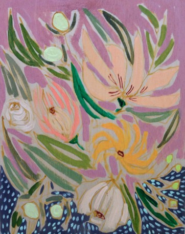flower canvas lulie wallace