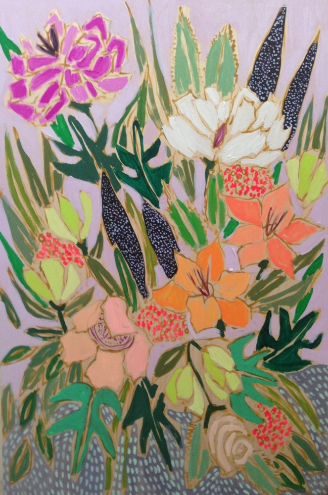 flower painting by lulie wallace
