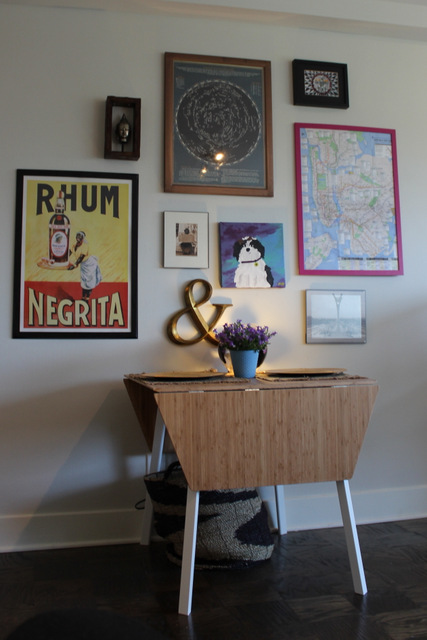 ikea kitchen table gallery wall