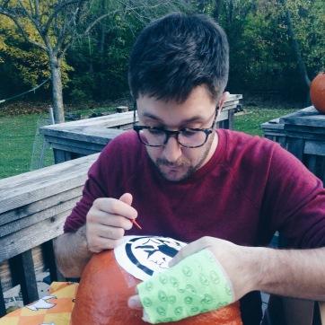 redskins pumpkin carving