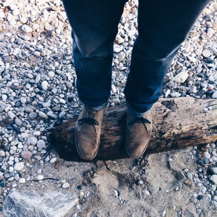 walking along lake michigan