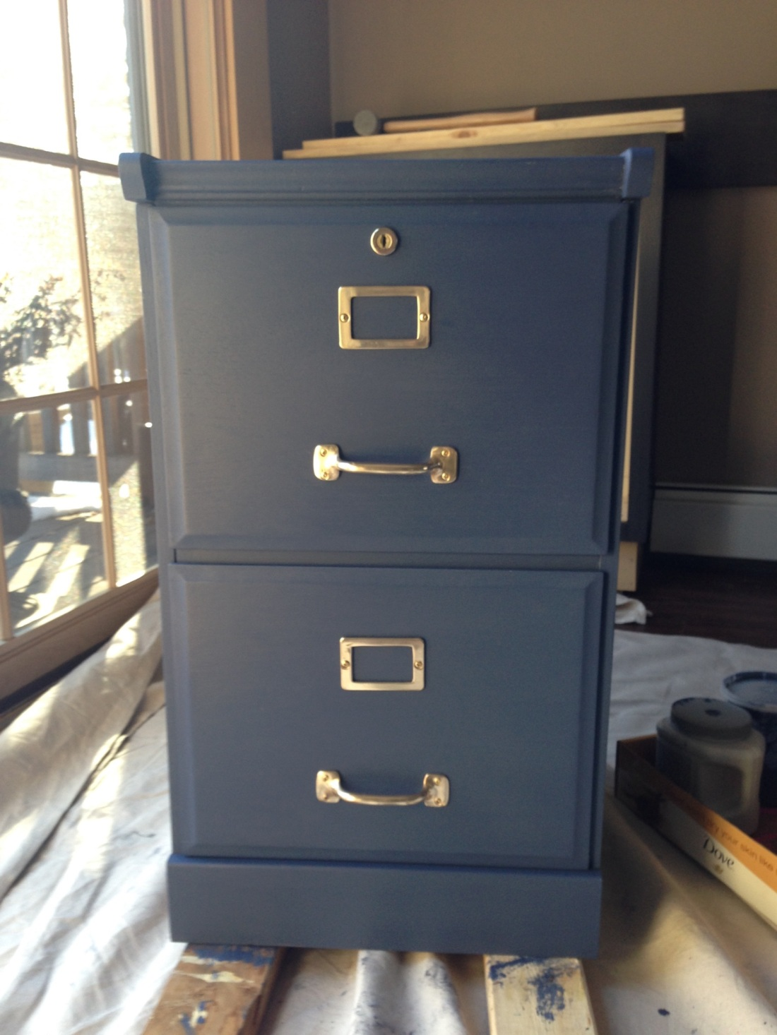 diy navy filing cabinet