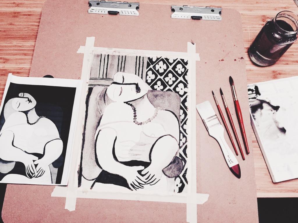 watercolor class art league alexandria, va